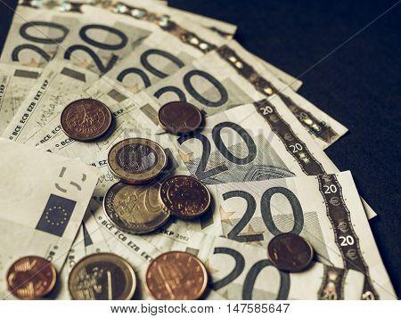 Vintage Euro Bank Notes