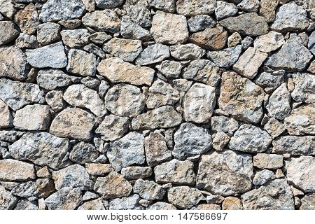 Background from a rough natural stone wall