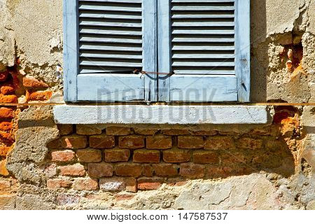Window  Lonate Ceppino Varese Italy Abstract  The Concrete  Blue