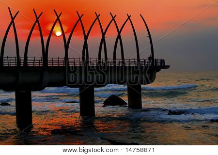 sunrise and pier
