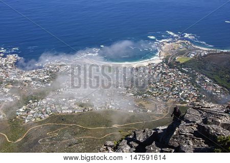 The seaside scenery in the mist,Capetown,South Africa