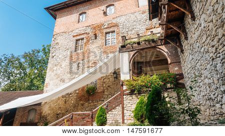 KORZKIEW, POLAND - SEP 3, 2016: Korzkiew Castle. This mediaeval defence fortress was built in the mid-14th century. It belongs to castles end fortresses: Eagles' Nests Trail near Krakow