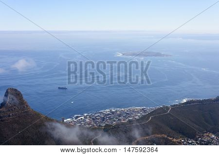 The seaside scenery with blue skyt, Capetown, South Africa