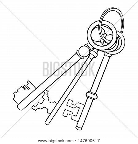 Vector Lineart Bunch Of Antique Keys