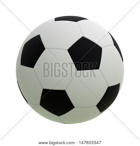 Soccer ball 3D render isolated on white