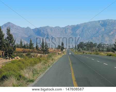 Road Leading To Ceres, Western Cape South Africa 01a