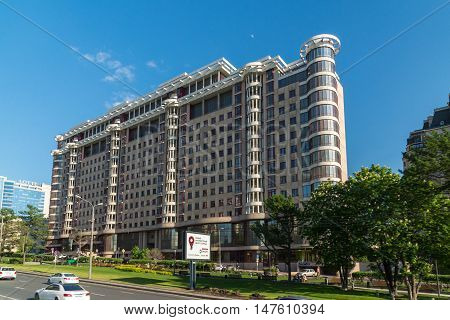 Moscow, Russia -03 June 2016. Residential complex a Novy Arbat 27
