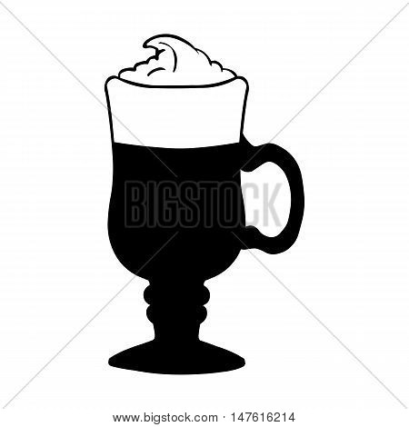 Vector Glass With Irish Coffee.