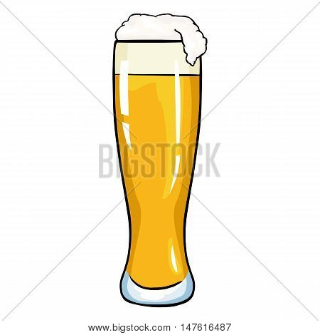 Vector Cartoon Glass Of Light Beer