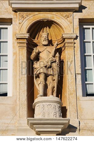 Statue At Coimbra University, Portugal