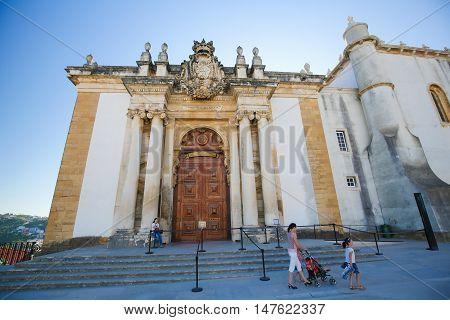 Joanina Library At The University Of Coimbra, Portugal