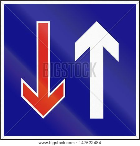 Hungarian Regulatory Road Sign - Priority Over Oncoming Vehicles
