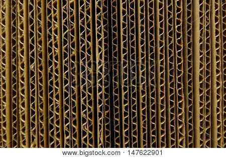 Packaging materials. Corrugated cardbord sheets closeup stock photo