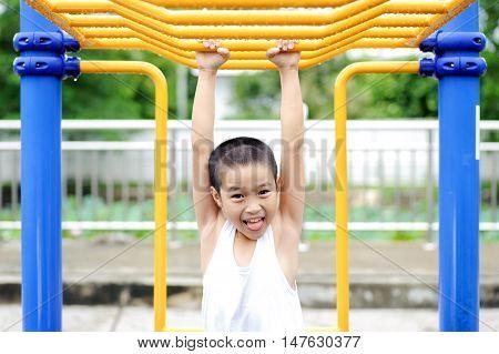 Boy And Yellow Bar