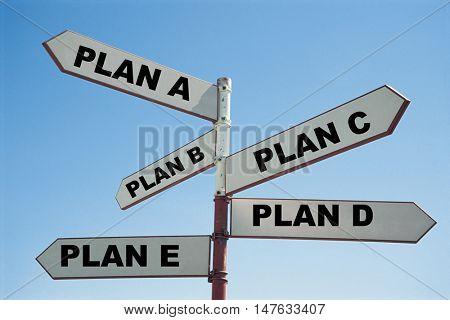 Plan A, Plan B, Plan C, Plan D