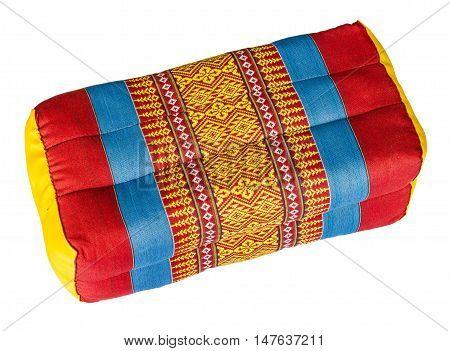 Tradition native Thai style pillow. on white background
