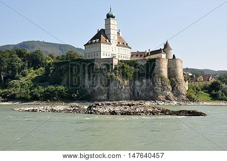view of an old castle in Wachau, Austria, Europe