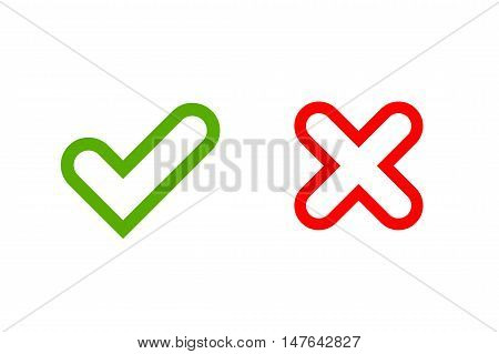 Tick Cross Signs Vector Photo Free Trial Bigstock