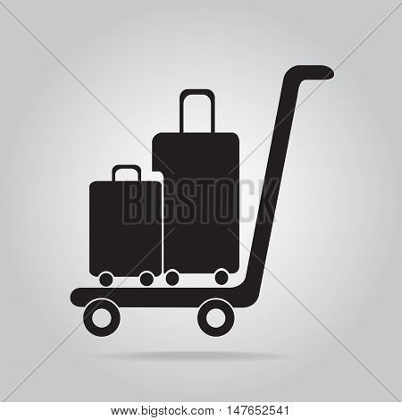 Luggage and cart icon symbol vector illustration