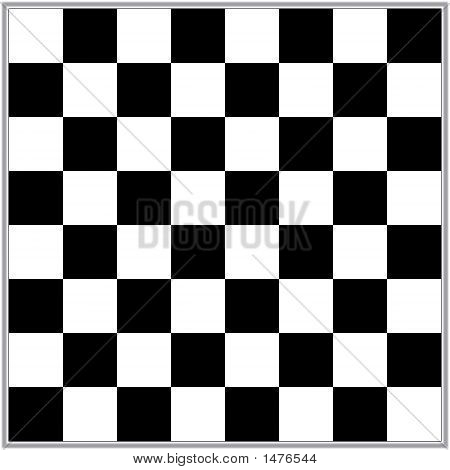 Illustration Of A Black And White Chess Board
