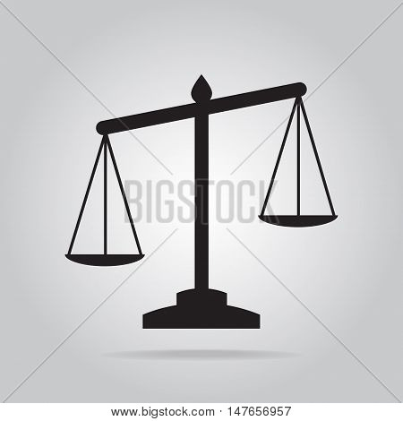 Justice scale icon symbol flat style vector illustration