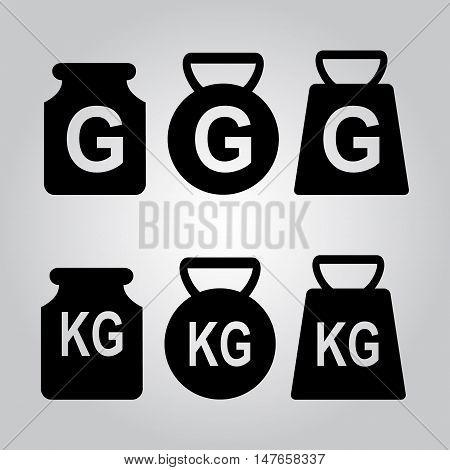 Weight icon symbol flat style vector illustration