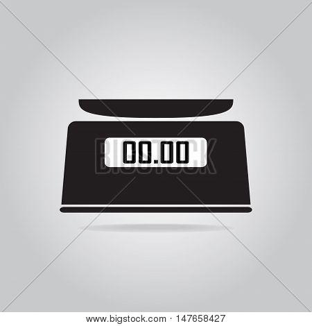 Digital scale icon symbol flat vector illustration