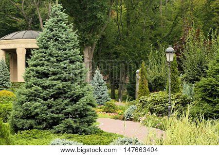 Alcove in green beautiful park