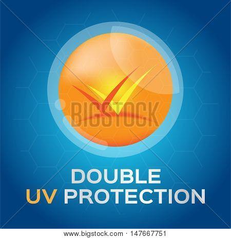 double uv protection vector logo , circle uv