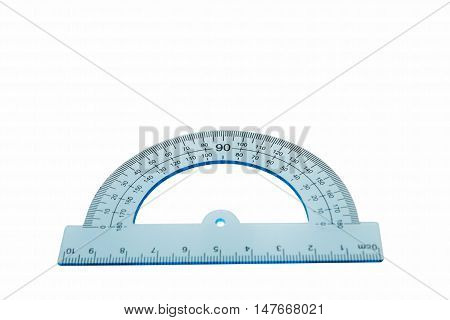 protractor centimeter isolated over the white background