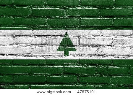 Flag Of Greenbelt, Maryland, Usa, Painted On Brick Wall