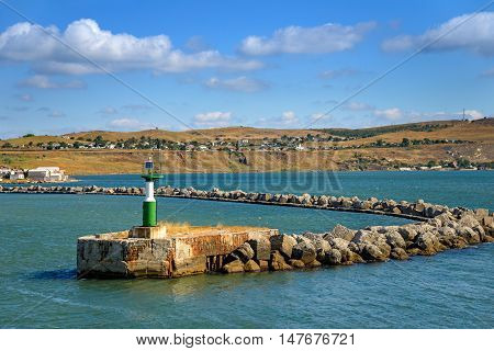 The entrance to the Harbor of the Port of Crimea