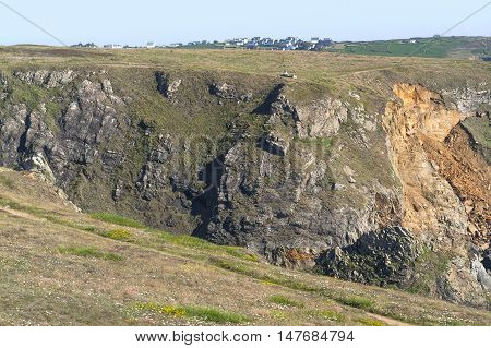 coastal scenery around Pointe du Van a promontory in Brittany France
