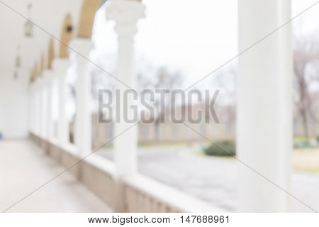 Castle with pillars (blurred, good for background)