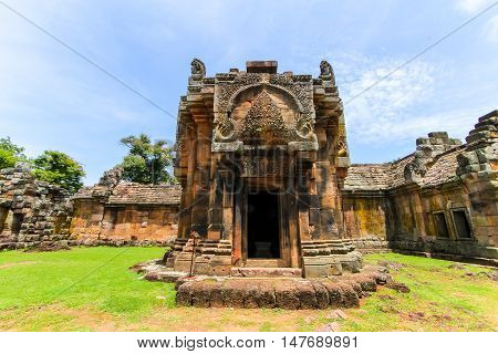 Prasat Phanom Rung south of the city of Buri Ram in Isan in Thailand.