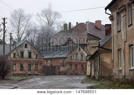 Old german buildings in the Gvardeysk (Tapiau). Kaliningrad region. Rusia.