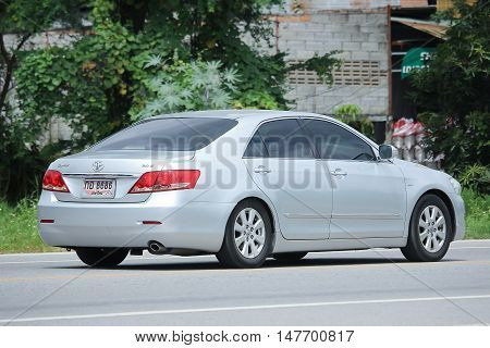 CHIANGMAI, THAILAND - AUGUST 18, 2016: Private car Toyota Camry. On road no.1001 8 km from Chiangmai city.