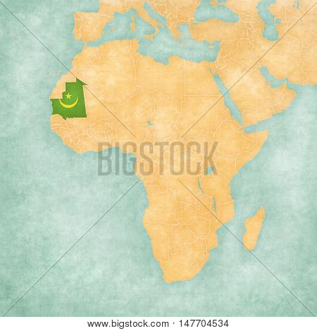 Map Of Africa - Mauritania