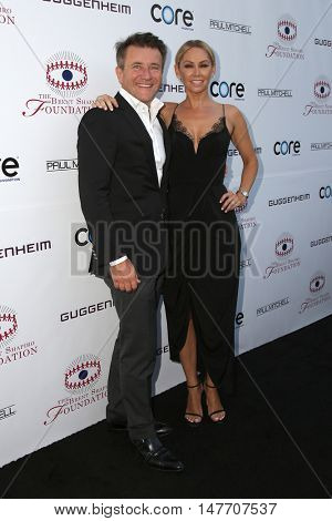 LOS ANGELES - SEP 17:  Robert Herjavec, Kym Johnson at the Brent Shapiro Foundation for Alcohol and Drug Prevention at the Private Residence on September 17, 2016 in Beverly Hills, CA