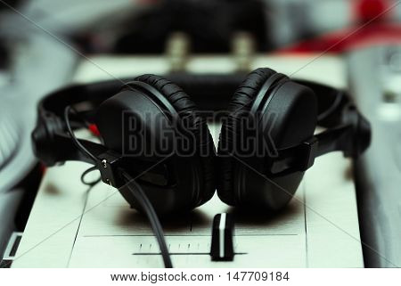 Headphones On Sound Mixing Controller