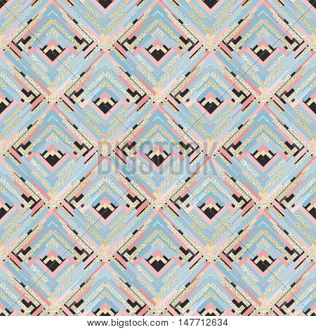Seamless backdrop. Retro design. Memphis illustration. Avant-garde graphic. Vintage pattern. Bauhaus ornament. Postmodernism print. Hipster background. Futuristic art. Geometry wallpaper. Vector.