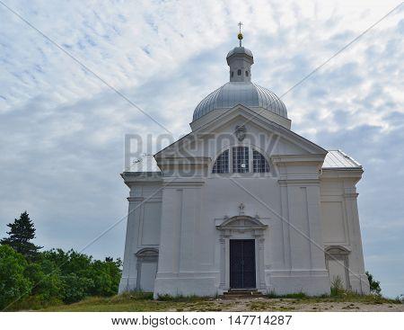Chapel St. Sebastian is an important landscape dominant of the town of Mikulov 6.8.2016 South Moravia Czech Republic