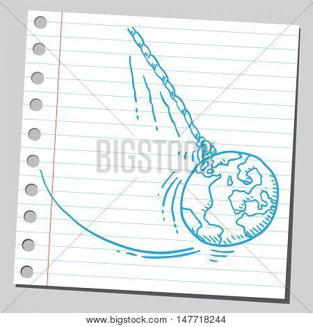 Planet Earth pendulum