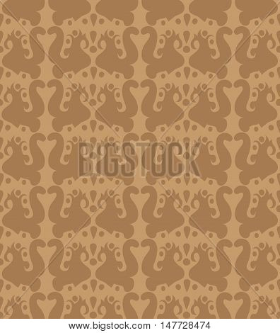 Brown abstract vector pattern. Vector background for your design.