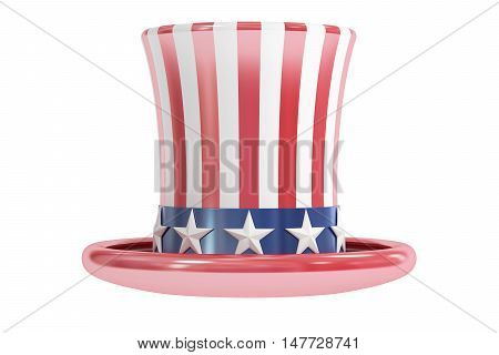 Uncle Sam hat American Hat 3D rendering