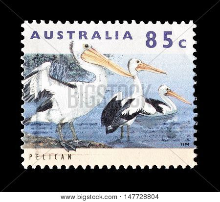 AUSTRALIA - CIRCA 1994 : Cancelled postage stamp printed by Australia, that shows Pelican.
