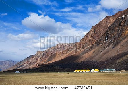 Sarchu Camping Tents At The Leh - Manali Highway
