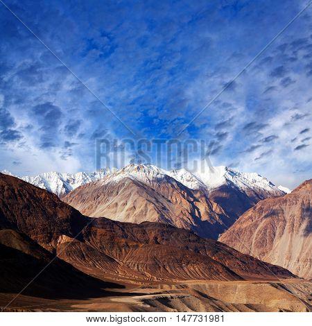 Karakoram Mountain Range In Ladakh, Jammu And Kashmir State, North India