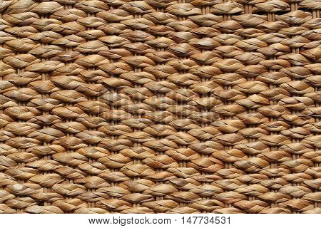 Woven straw. Rattan closeup. background. texture. clos-up