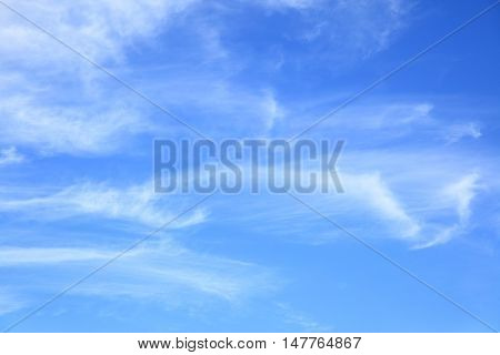 Light fleecy clouds in the sky, may be used as background